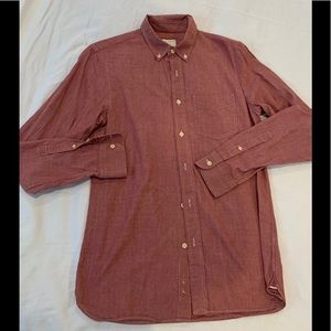 Mens Club Monaco Red Button Up